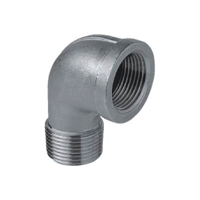 """Iso Ss 304 Cast Pipe Fitting 90 Degree Street Elbow 3/8"""" Npt Male X Female - Pkg Qty 50"""