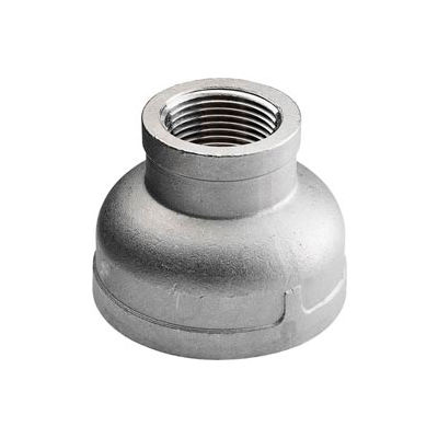 """Iso Ss 304 Cast Pipe Fitting Reducing Coupling 1/2"""" X 1/4"""" Npt Female - Pkg Qty 75"""
