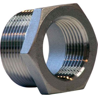 1 In. X 3/4 In. 304 Stainless Steel Bushing - MNPT X FNPT - Class 150 - 300 PSI - Import