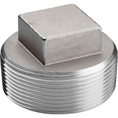 3/4 In. 304 Stainless Steel Plug - MNPT - Class 150 - 300 PSI - Import