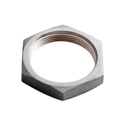 "Iso Ss 304 Cast Pipe Fitting Hex Locknut 2-1/2"" Npt Female - Pkg Qty 10"