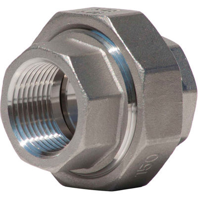 1-1/2 In. 304 Stainless Steel Union - FNPT - Class 150 - 300 PSI - Import