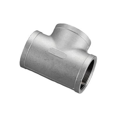 """Iso Ss 316 Cast Pipe Fitting Tee 3"""" Npt Female - Pkg Qty 2"""