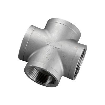 "Iso Ss 316 Cast Pipe Fitting Cross 3/4"" Npt Female - Pkg Qty 10"