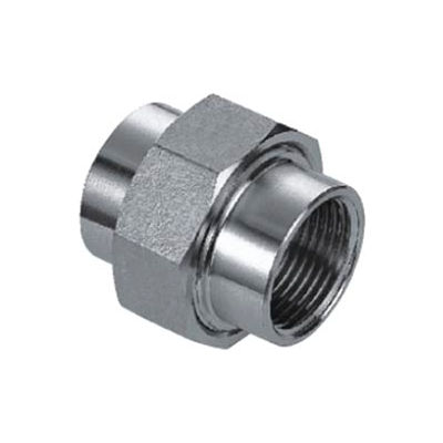 """Iso Ss 316 Cast Pipe Fitting Union 1/4"""" Npt Female - Pkg Qty 25"""