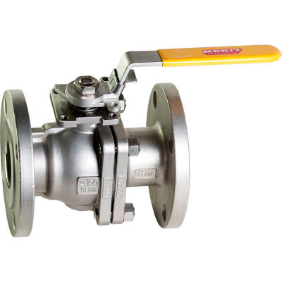 2-1/2 In. Stainless Steel Flanged Full Port Ball Valve - 2 Piece - Direct Mount - 300 PSI