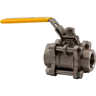 1/4 In. T316 Stainless Steel Full Port Ball Valve - 3 Piece - 1000 PSI - Pkg Qty 10