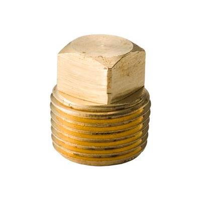 "Brass Yellow Barstock 1/2"" Hex Countersunk Plug Npt Male - Pkg Qty 50"