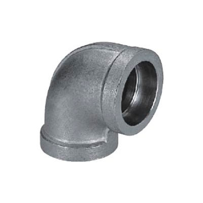 "Mss Ss 304 Cast Pipe Fitting 90 Degree Elbow 1-1/4"" Socket Weld Female - Pkg Qty 8"