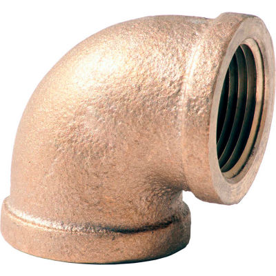 1/2 In. Lead Free Brass 90 Degree Elbow - FNPT - 125 PSI - Import