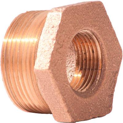 1 In. X 3/4 In. Lead Free Brass Bushing - MNPT X FNPT - 125 PSI - Import