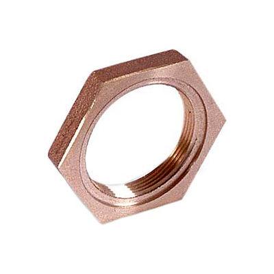 """Brass 125 Lb Lead Free Fitting 1/2"""" Locknut Npt Female - Pkg Qty 50"""