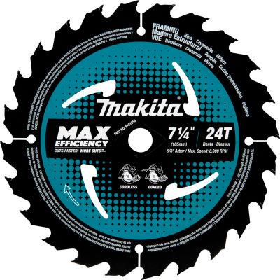 """Makita® Carbide-Tipped Max Effcy Ultra-Thin Kerf Circular Saw Blade, Framing, 7-1/4""""Dia, 24 TPI"""
