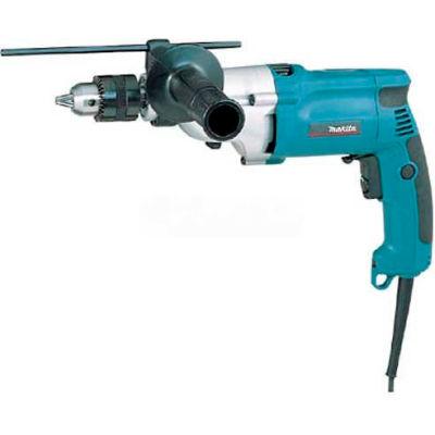 """Makita® Hammer Drill, HP2050, 3/4"""", 6.6 Amp, 2-Speed, Rev., case"""