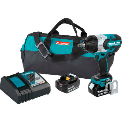 "Makita® Cordless High-Torque 1/2"" Impact Wrench Kit, 5.0Ah, 18V LXT® Li-Ion, Friction Ring"