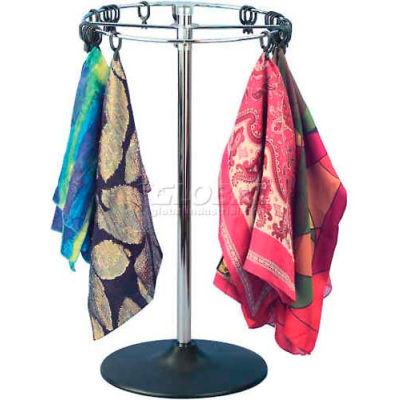 Marv-O-Lus Counter Scarf/Handkerchief Rack, 1 Step Design, Black/Chrome, 156-1D14X