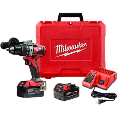 """Milwaukee 2902-22 M18™ 1/2"""" Compact Brushless Drill/Driver Kit"""