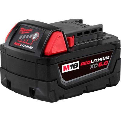 Milwaukee® 48-11-1850 18V Li-Ion M18 Battery 5Ah Extended Capacity