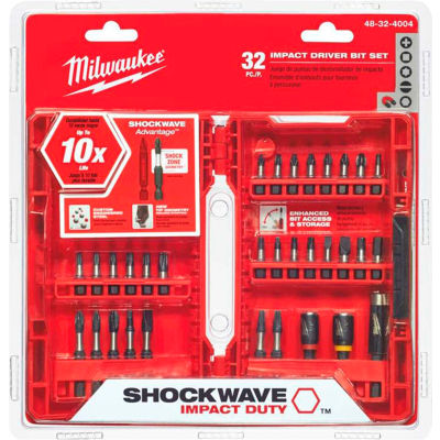 Milwaukee® 48-32-4004 SHOCKWAVE™ 32-Piece Impact Driver Bit Set