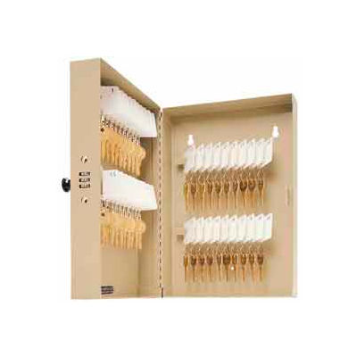 "MMF STEELMASTER® 40-Key Cabinet 201204003 with Combination Lock 7-3/4"" x 3-3/8"" x 11-3/8"", Sand"