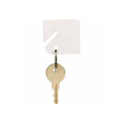 MMF Slotted Rack Key Tags with Snap-Hook 201300006 Plain White, Resealable Bag, 2 Pack of 20 Tags - Pkg Qty 2