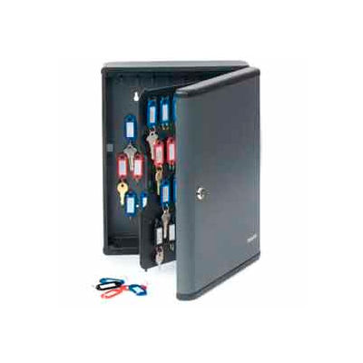 """MMF STEELMASTER® 90-Key Security Cabinet 2017290G2 - 12""""W x 4-1/4""""D x 14-3/4""""H, Charcoal Gray"""