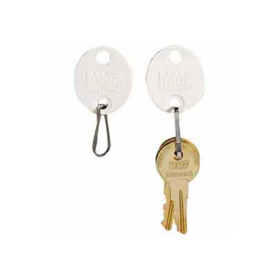MMF Snap-Hook Oval Key Tags 201800706 Plain, Pack of 20 Tags, White