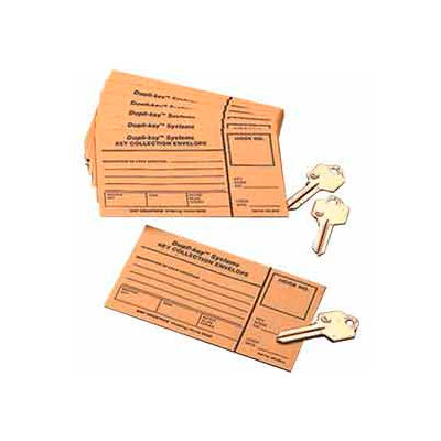 MMF Key Collection Envelopes 201801400 Two-Tag System, Price Pack of 100 Envelopes