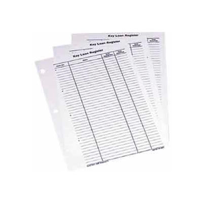 MMF Key Loan Record Sheets 201802100 Two-Tag System, Price Pack of  24 Sheets