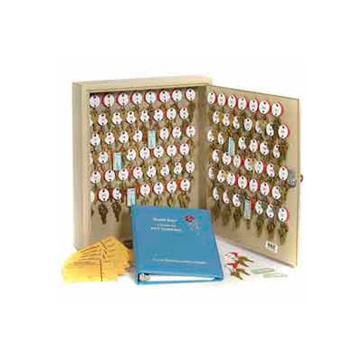 MMF STEELMASTER® Dupli-Key#174; Two-Tag 60 Key Cabinet 2018060D03 Dual Control Sand