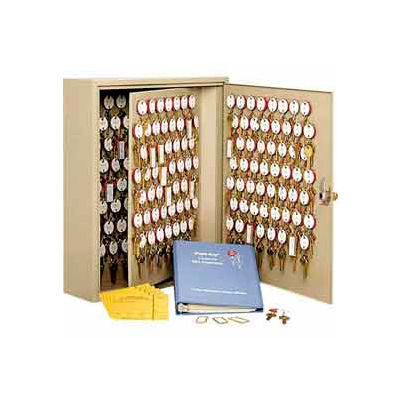 MMF STEELMASTER® Dupli-Key#174; Two-Tag 240 Key Cabinet 2018240KA03 Keyed Alike Sand