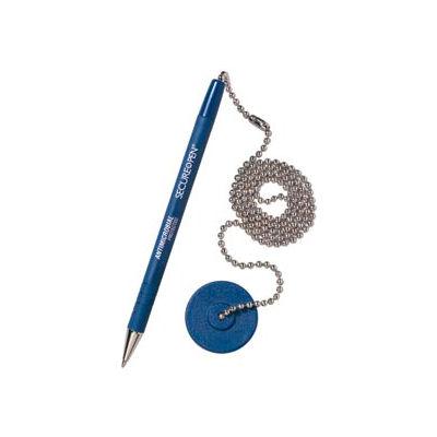Counter Pen - Secure-A-Pen, Blue Ink - Pkg Qty 12