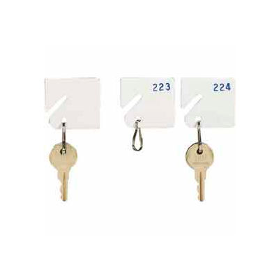 MMF Slotted Rack Key Tags with Snap-Hook 5313231BE06 - Numbered 181-200, White