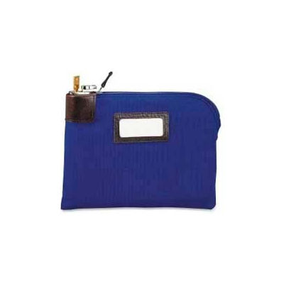 """MMF Currency Bag with Built-in Lock 2330981W08 Nylon, 11"""" x 8-1/2"""", Navy"""