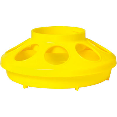 Little Giant 806, Poultry Feeder Base For 690 Jar, Yellow