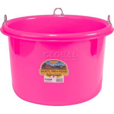 Little Giant Race Horse Tub P800, Polyethylene, 8 Gal., Hot Pink