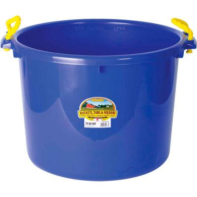 Little Giant PSB70BLUE Bushel Muck Bucket W/Rope Handles Poly & Poly Rope, 70 Qt., Blue - Pkg Qty 6
