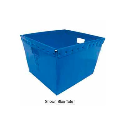 Corrugated Plastic Nestable Tote, 21x19x14, Red  - Pkg Qty 4