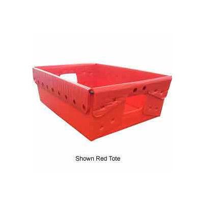 Corrugated Plastic Nestable Tote, 18-1/4x13-1/4x6, Natural  - Pkg Qty 10
