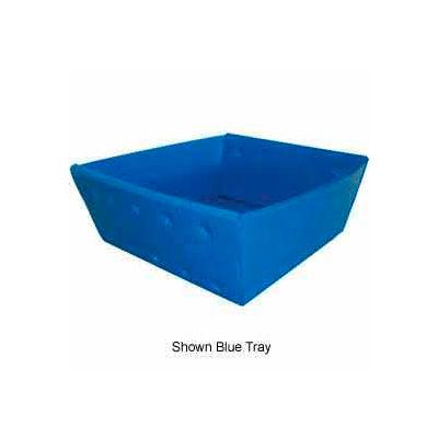 Corrugated Plastic Nestable Tray, No Handles, 13x12x4-1/2, Yellow (Min. Purchase Qty 76+) - Pkg Qty 270
