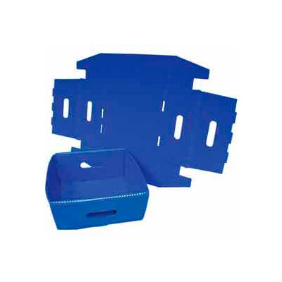 Corrugated Plastic Knockdown Tray, 13x12x4-1/2, Blue (Min. Purchase Qty 100+) - Pkg Qty 500
