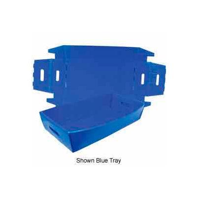 Corrugated Plastic Knockdown Tray, 24x12x4-1/2, Gray (Min. Purchase Qty 100+) - Pkg Qty 500