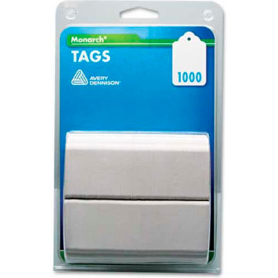 """Monarch® Refill Tags for Tag Attacher Kit, 1-1/8"""" x 1-3/4"""", White, 1000 Tags/Pack"""