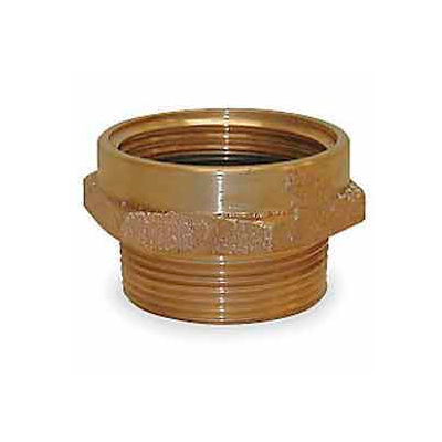 Fire Hose Female/Male Hose Nipple - 1-1/2 In. NH Female X 1-1/2 In. NPT Male - Brass