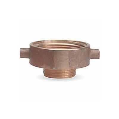 Fire Hose Female/Male Reducer Adapter - 2-1/2 In. NH Female X 3/4 In. GH Male - Brass