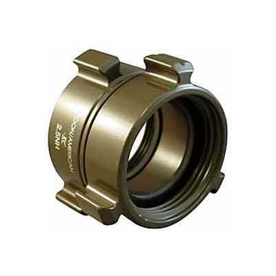Aluminum 1 1//2 NH to 1 1//2 NPSH Double Female Fire Hose Adapter