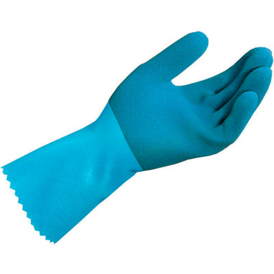 MAPA® Blue-Grip™ LL301 Natural Rubber Gloves, Heavy Weight, Blue, 1 Pair, X-Large, 301429