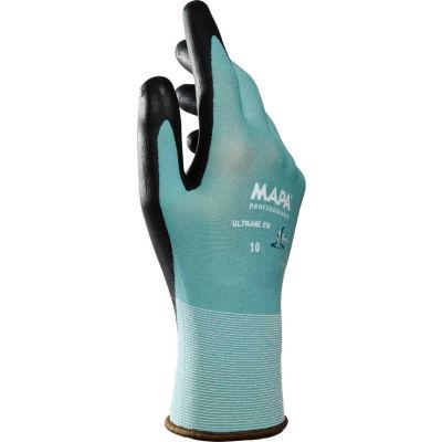 MAPA® Ultrane 510 Polymer Coated Gloves, Knit Wrist Liner, Green, 1 Pair, Size 7, 34510007