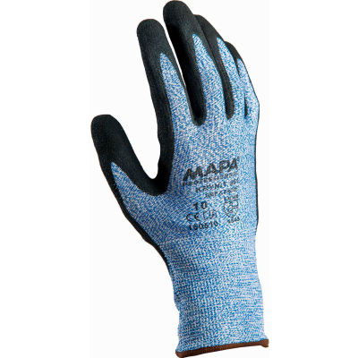 MAPA® Krynit Grip & Proof 581 Nitrile Palm Coated HDPE Gloves, Cut Level A4, 1 Pair, Size 7