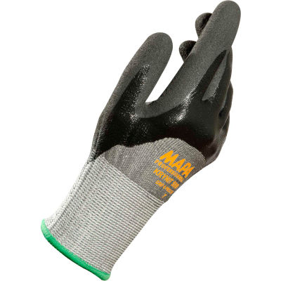 MAPA® Krynit Grip & Proof 599 Nitrile 3/4 Coated HDPE Gloves, Cut Level A2, 1 Pair, Size 7